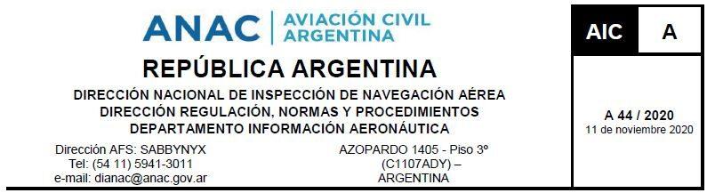De interés para la Aviación General, Aerodeportivas y de Trabajo Aéreo.