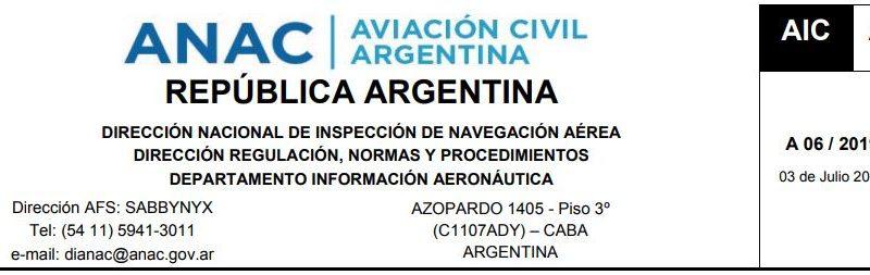 Atención Aeroclubes. Restricción de operación durante la Cumbre del MERCOSUR.