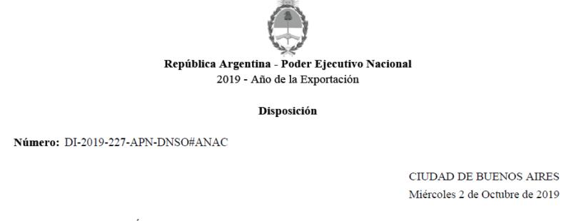 """Disp. 227/2019 mediante el cual se aprueba la creación del """"Programa de Capacitación y Consolidación de Conocimientos Operativos para el personal Responsable de Instrucción""""."""