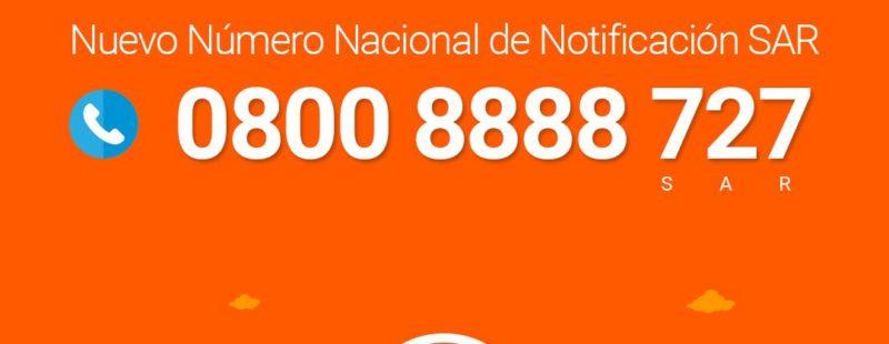 EANA, informa. Nuevo Número Nacional de Notificación SAR
